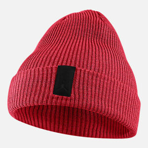 9b2c4b0b77fd Brand New Adult Unisex Jordan Loose Gauge Cuff Knit Hat Red Black