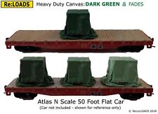 Large N Smaller HO OO BLUE /'Canvas/' Tarped Covered Sheeted Model Road Rail Load