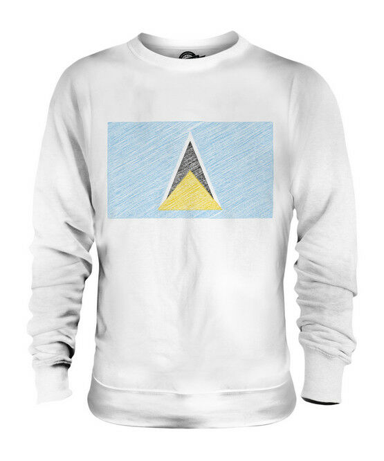 SAINT LUCIA SCRIBBLE FLAG UNISEX SWEATER  TOP GIFT ST. LUCIA FOOTBALL