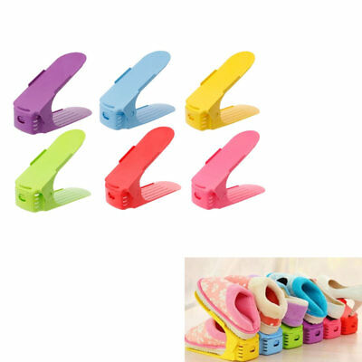 6X Home Adjustable Shoes Base Space Saver Rack Double Layer Shoes Storage Hanger