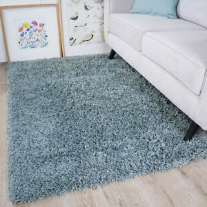 New-Fluffy-Duck-Egg-Coastal-Blue-Shaggy-Rug-Soft-Thick-For-Bedroom-Living-Room