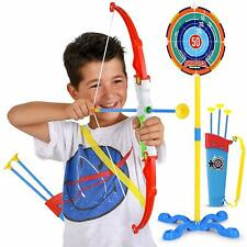 Abco Tech Toy Bow and Arrow for Kids Archery Set Target Stand Quiver Bow 3 Arrow