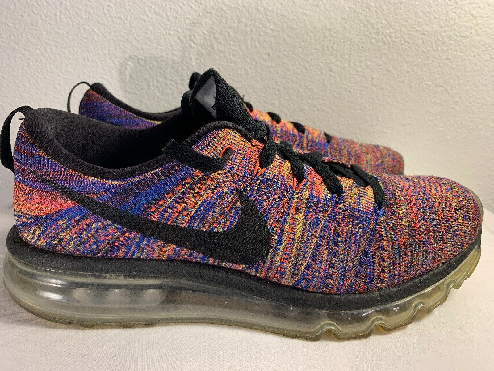 Nike Mens Flyknit Air Max Running shoes Multi color Sz 8.5 620469-012