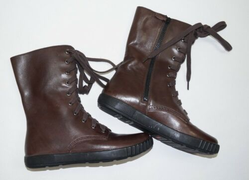 COLE HAAN Womens Lace Up Leather Brown Boots