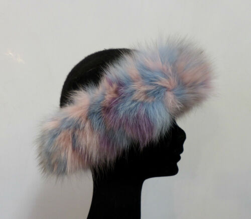 Volpe Pelz Pelliccia Color Velcro Cappello In Fourrure Fox Nero Hat Fur Chapeau QdxrCsth