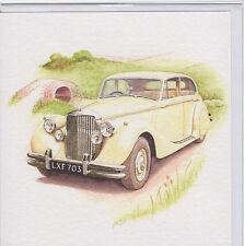JAGUAR 1950 MK.V 3.5 LITRE  SPECIAL OCCASION BIRTHDAY BLANK MESSAGE CARD