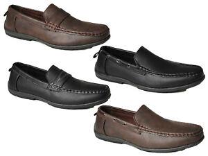 Homme-Mocassins-A-Enfiler-Conduite-Chaussures-Decontracte-Chic-Bateau-Pont-Bureau-Robe-Mocassins