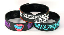 Falling In Reverse Pierce The Veil Sleeping With Sirens 3pcs(3x) Wristband 3Fr21