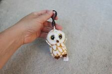 Ty Swoops Barn Owl Beanie Boos Boo Keyring Key Clip Plush Ring Brown White