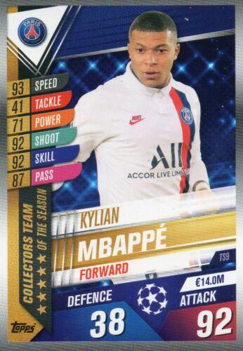 Topps Match Attax 101 Saison 2019//2020 Kylian Mbappe TS9 Collectors Team