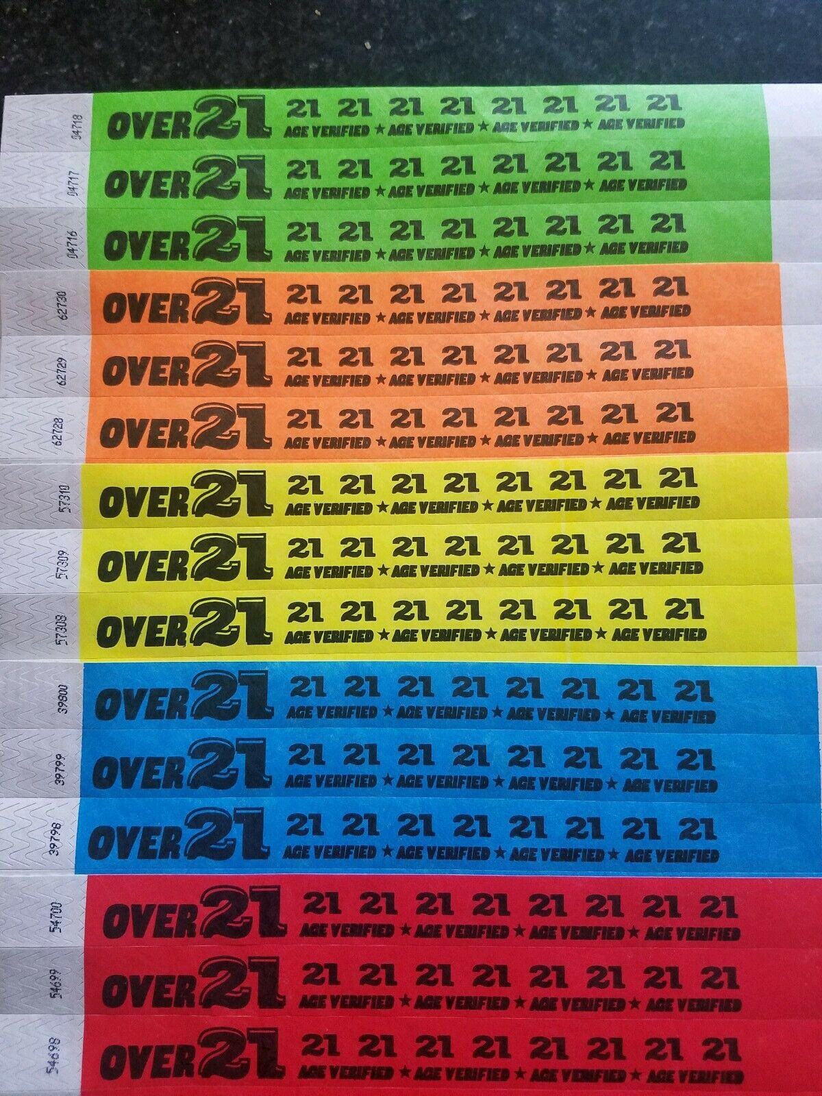 5,000 plus de 21 3 4  Tyvek Bracelets, Bracelets pour événements, papier Bracelets