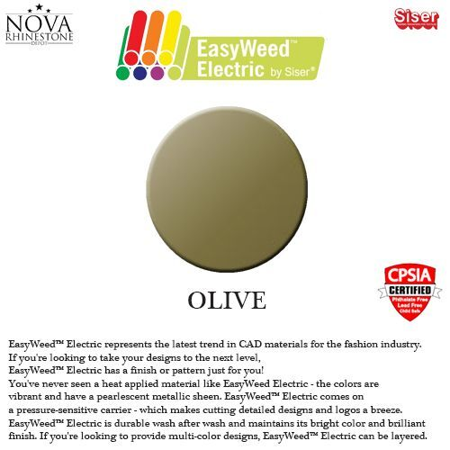 "Siser Easyweed ELECTRIC Heat Transfer Vinyl 15/"" X 9/"""