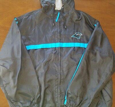 buy online 0a3d0 91759 GameDay NFL Large Carolina Panthers Coat Vintage Retro 90's jacket hoodie  Black | eBay