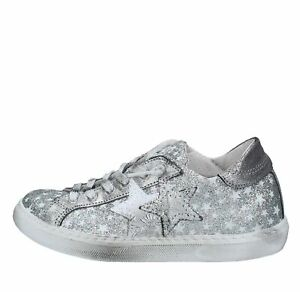 Amf23_2sta Scarpe Sneakers 2star Donna Argento Large SéLection;