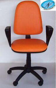 Sedie Da Ufficio Arancione.Sedia Poltrona Girevole Ufficio Con Ruote E