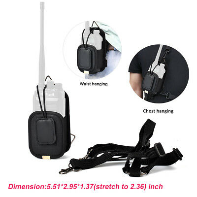 Durable Radio Holster Two Way Radio Walkie Talkie Waist Chest Holder Hanging Bag