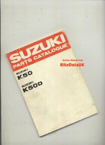 Suzuki-K50-K50D-1967-gt-Genuine-Factory-Parts-List-Catalog-Book-Manual-K-50-BS44