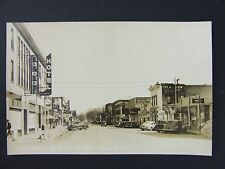 Loveland Colorado 4th Street Coke Theater Signs Real Photo Postcard RPPC 1940s