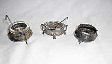 ANTIQUES ASIAN LIOT P '800' 5 PIC. SILVER SPICY DISH WITH GLASS