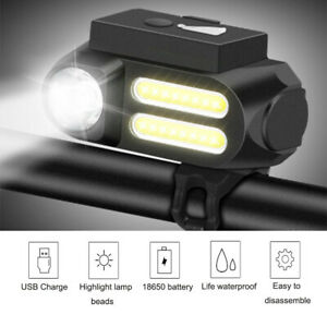 20000LM USB Rechargeable XPE Bike Front Rear Lights LED Bicycle Lamp Waterproof