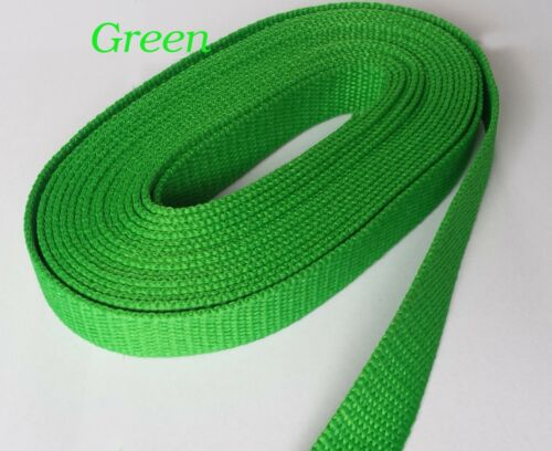 20MM STRONG GREEN POLYWebbing Upholstery Strap Dog Lead CRAFTCamping Belt MAKING