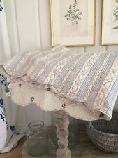 Beautiful Floral Shabby Chic Style French Country King Quilt, Made in France