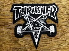 Thrasher EMBROIDERED Black&White PATCH IRON ON or SEW, Skateboard COOL Sports