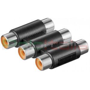 Adattatore-triplo-audio-stereo-video-3-RCA-femmina-accoppiatore-prolunga-cavo-av
