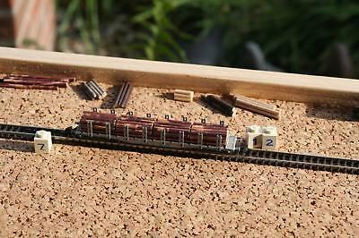 Luminosa Z 12 - 1 X Rinfusa Tronco D'albero, Harvester Rosse-marroni, Per Rungenwagen Märklin Z-mostra Il Titolo Originale Per Migliorare La Circolazione Sanguigna