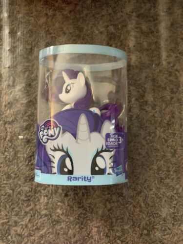 "L@@k My Little Pony Rarity Figurine 3/"" Hasbro Plastic Toy White /& Purple"