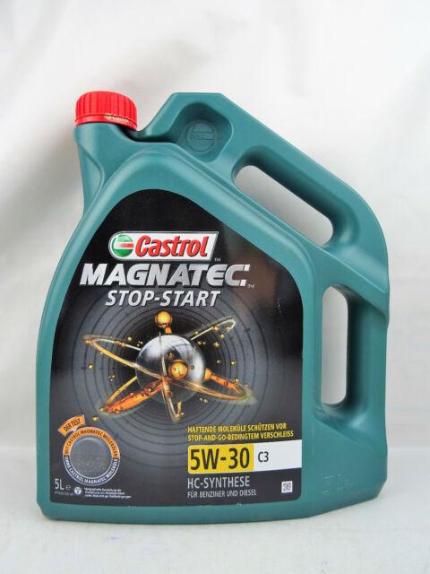 Castrol 5W30 Magnatec Stop-Start C3 5W-30 BMW LL04 VW MB 5Liter 159A5C Olio