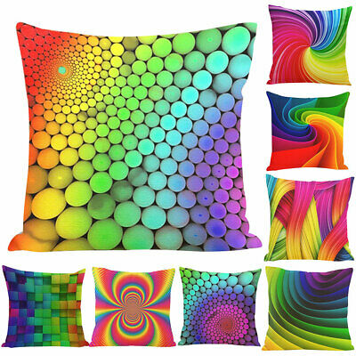 CW/_ Letter Floral Print Square Throw Pillow Case Cushion Cover Sofa Decor Novelt