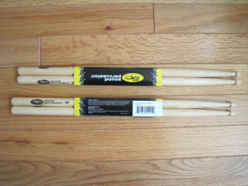 NEW Sound Percussion Labs Hickory Drumsticks 5B Wood Tip Sticks SP5B 2 Sets