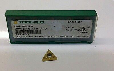 TOOL FLO Carbide Inserts TNMC 54 NT 3P STUB W.131 GP50 TF23131N4 10 Pcs
