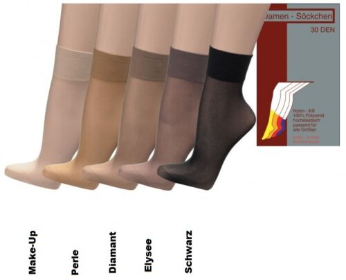 15//20 pares feinsöckchen finamente medias finamente calcetines 20//30den nylon m suave federal