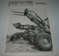 Technische Information Product Training Bulletin Industrielader IT12 IT18 IT28
