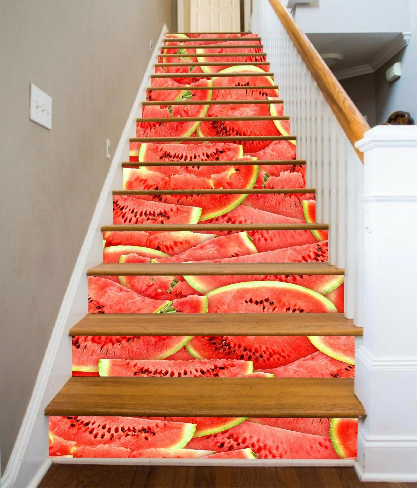 3D Watermelon 852 Stair Risers Decoration Photo Mural Vinyl Decal WandPapier AU