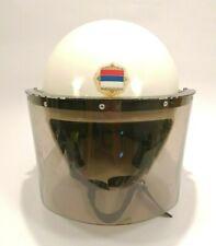 Vintage Yugoslavian Police Militia Anti Riot Helmet Complete Shaded Face Shield