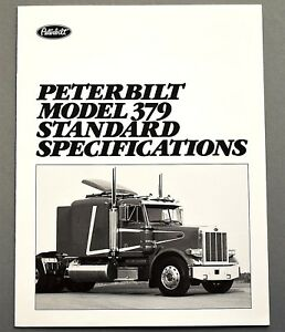 original 1988 peterbilt model 379 standard specs truck brochure 6