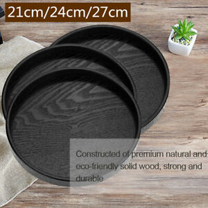 Round-Wood-Tea-Tray-Coffee-Snack-Food-Meals-Serving-Tray-Plate-Restaurant-Trays