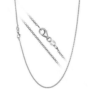 925-Sterling-Silver-Italian-Rolo-Link-Cable-Chain-Necklace-CHOOSE-WIDTH-amp-LENGTH