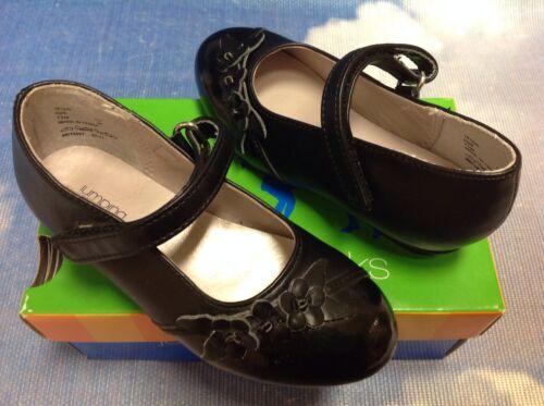 Jumping Jacks Amber Black Hook /& Loop Mary Janes Dress Shoe Toddler Size 7.5