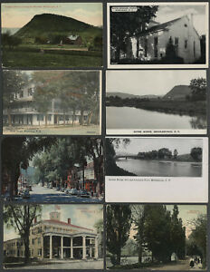 Middleburgh-NY-Lot-of-Eight-c-1905-1950s-Postcards-VARIOUS-VIEWS-BUILDINGS