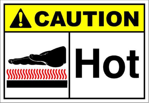 ANSI LABEL DECAL STICKER Hot Caution OSHA