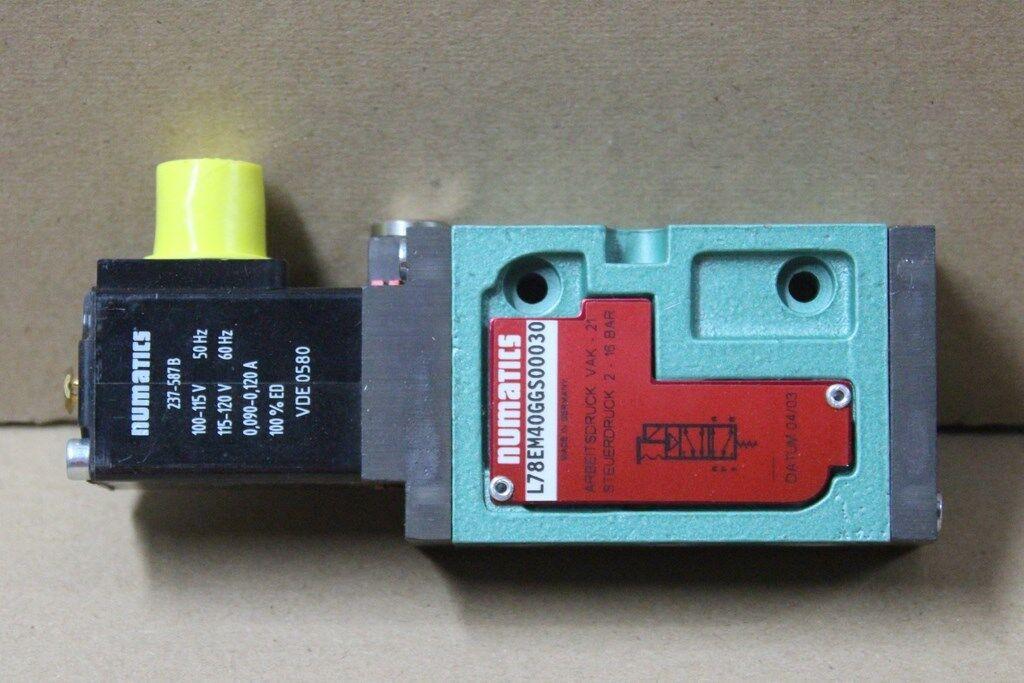 NEUF   Distributeur pneumatique Solenoid  2-16bar 120V, NUMATICS L78EM40GGS00030