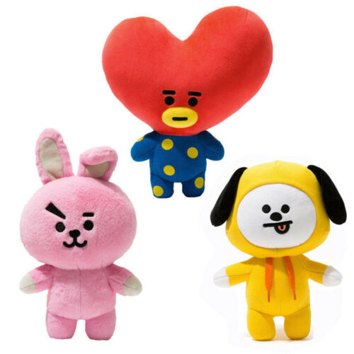 Hot Kpop Bts Plush Toy Bt21 Chimmy Cooky Tata Standing Doll 12inch