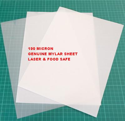 Mylar Stencil Sheets art airbrush craft 190 micron 5 x A4 food laser safe VALUE!