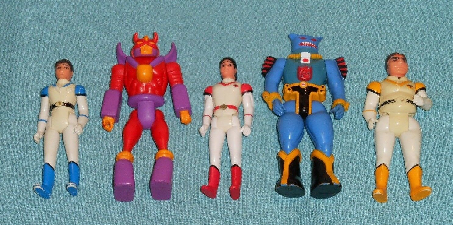 Vintage PANOSH PLACE VOLTRON FIGURES & DRIVERS LOT  5 Keith Lance Hunk Robeast
