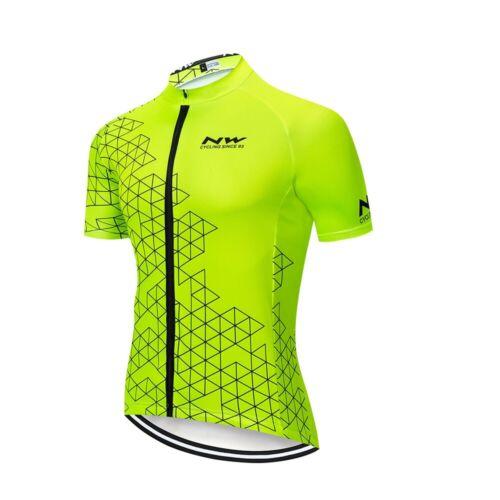 2019 Fluorescent Green Mens Cycling Jersey Bib Short Set Green Cycling Jersey
