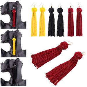 Fashion-Women-Bohemian-Fringe-Boho-Long-Tassel-Hook-Drop-Dangle-Earrings